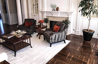 Sand and Finish - Antique Brown Color Stain - by Fine Floorz in Walnut Creek