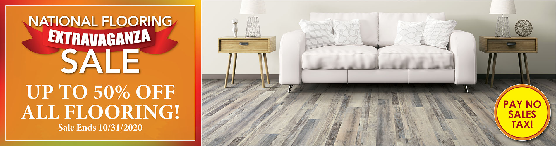 National Flooring Extravaganza Sale! Save up to 50% off all flooring! Hurry in, sale ends 10/31/2020 – only at Fine Floorz in Walnut Creek, California.